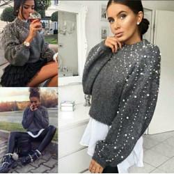 Elegante suéter color gris