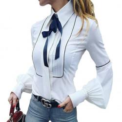 Blusa elegante azul o blanco