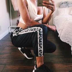 Sexy pantalón chándal banda...
