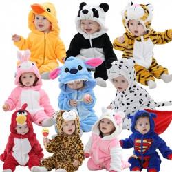 Pijama mameluco animales bebe