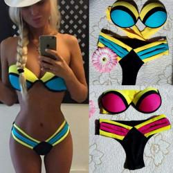 Bikini multicolor relleno...