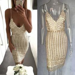 Vestido dorado Yamelian