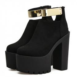 Zapatos plataforma hebilla...
