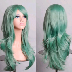Peluca corte verde 66cm
