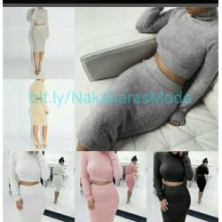 Conjunto invierno top+falda