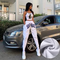 Pantalón chándal blanco SAVAGE