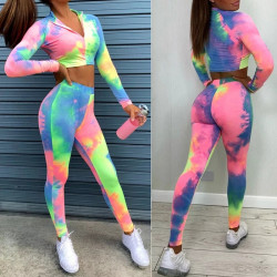Conjunto Tie Dye top leggins