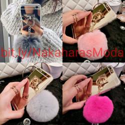 Fundas espejo pompón Samsung