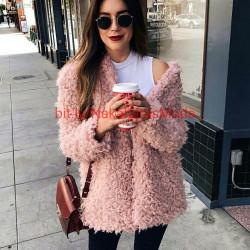 Chaqueta lana rosa,gris, negro