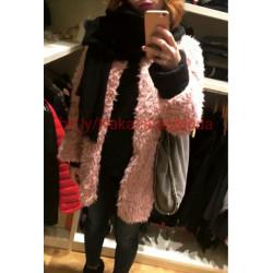 Chaqueta lana color rosa o...