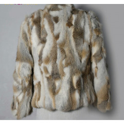 Chaqueta abrigo piel conejo...
